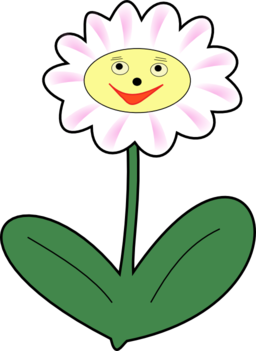 Face clipart flower. Happy blue smiley png