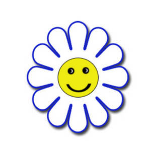 Face clipart flower. Smiley