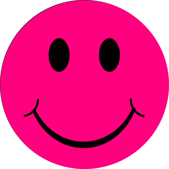 Face clipart happy. Pink