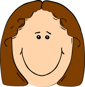 Face clipart happy. Girl clip art at