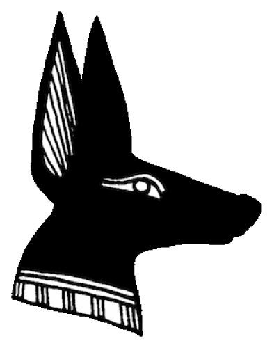 Face clipart jackal. The god anubis in