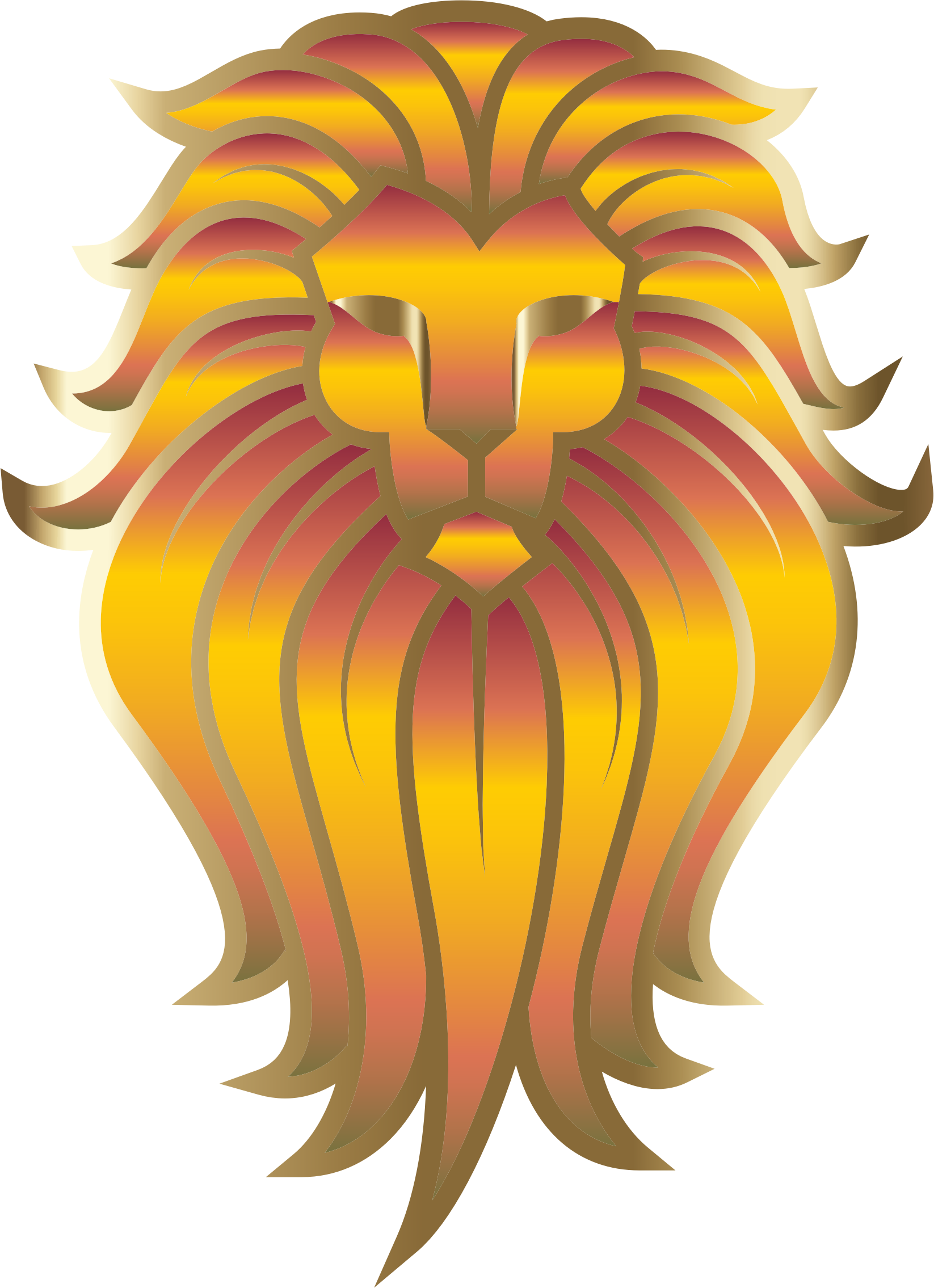 Face clipart lion. Chromatic tattoo no background