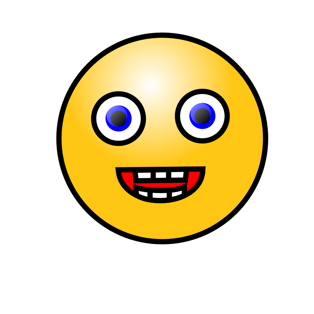Laugh clipart. Pear laughing smiley face
