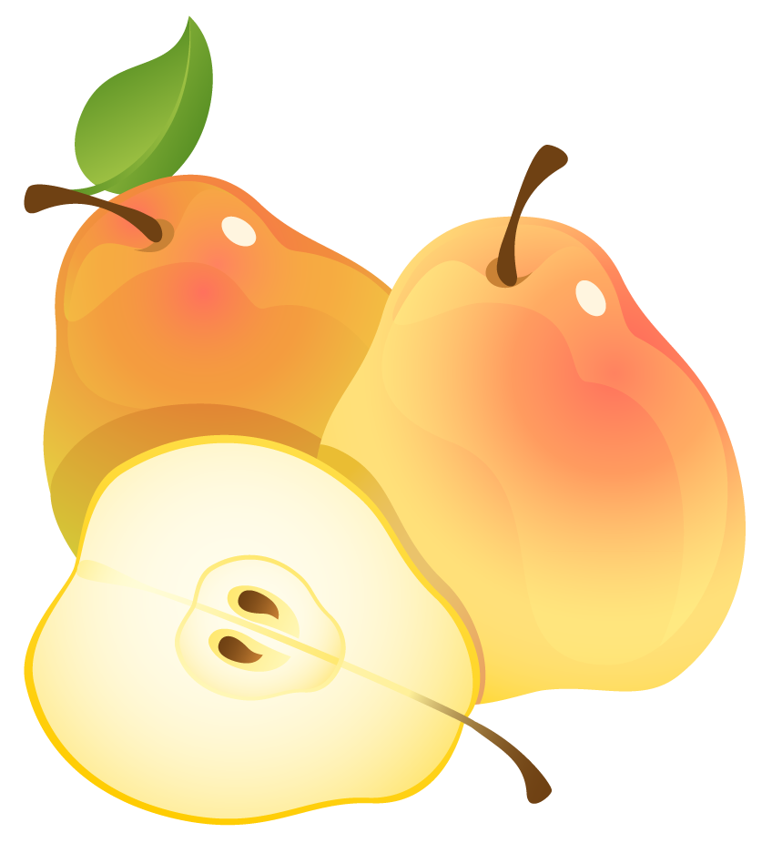 Face clipart pear. Large painted pears png