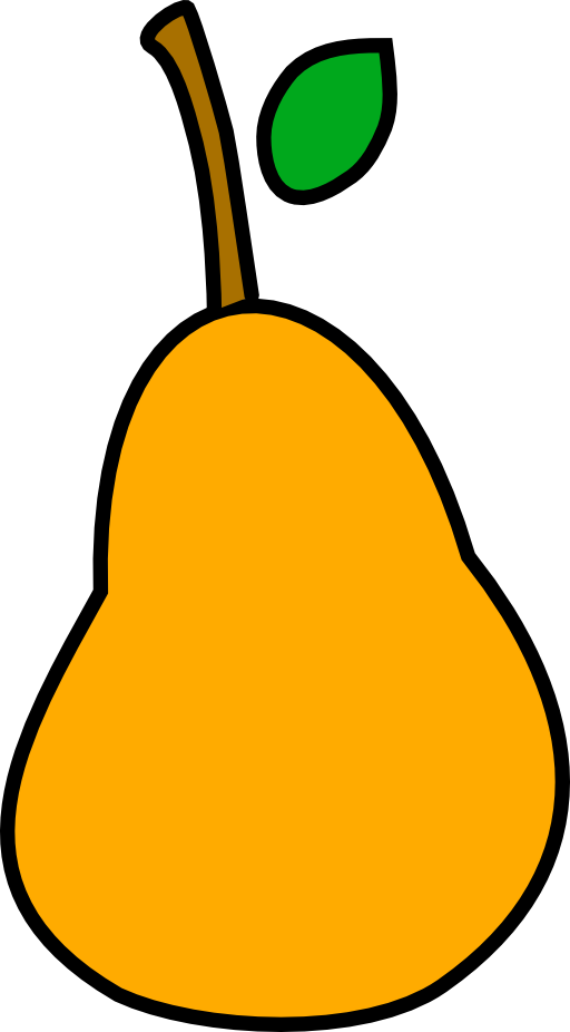 Face clipart pear. A less simple i