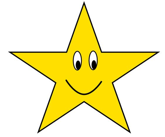 Face clipart star. Gold with happy sketch