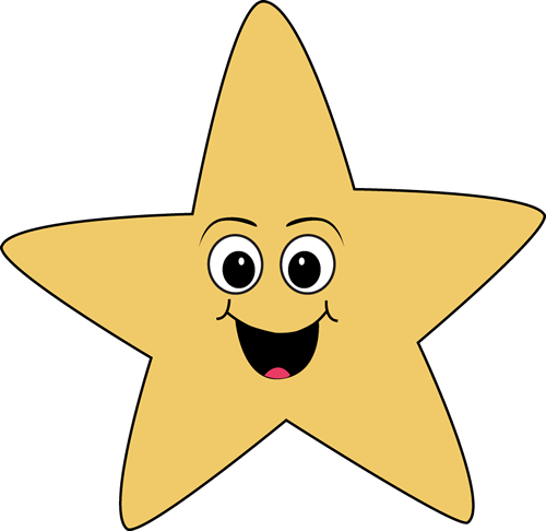 Face clipart star. Happy