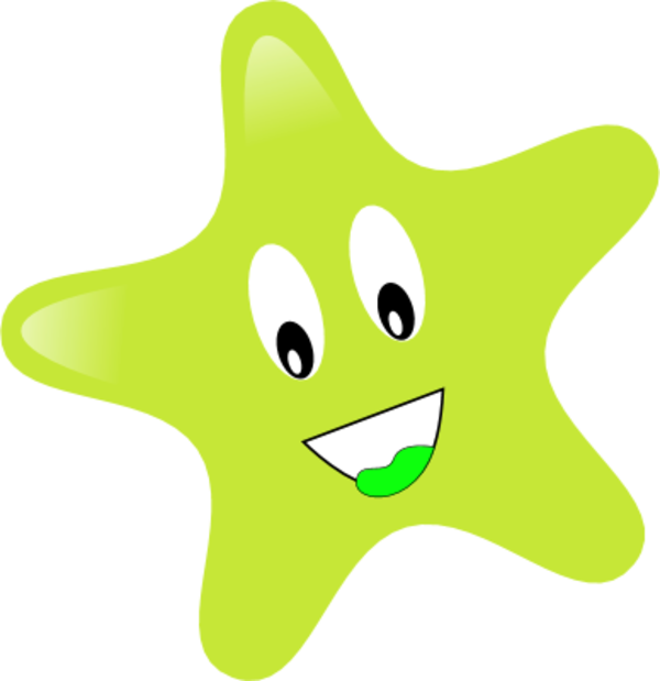 Face clipart star. Free smiley image clip