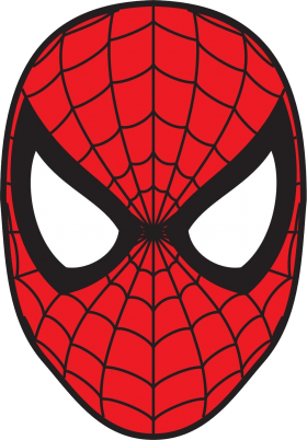 Mask clipart spider man. Character spiderman clip art