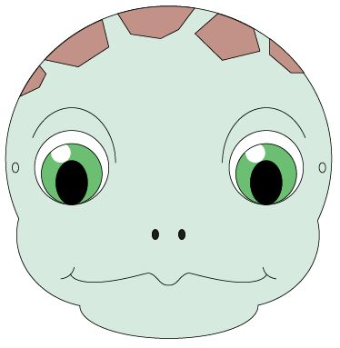 Face clipart tortoise. Images of mask