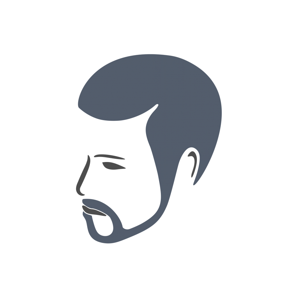 Face logo png. Bearded man free elements