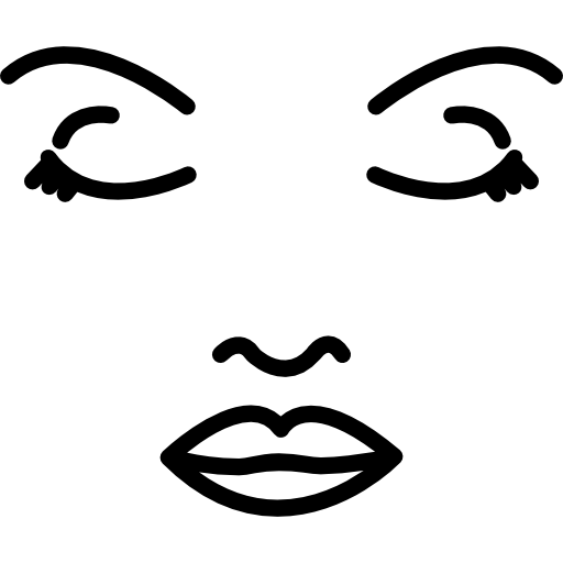 Head outline png. Face of a woman