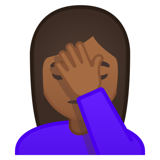 Face palm emoji png. Google android oreo