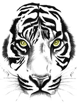 Face tattoos png. Download tiger free transparent