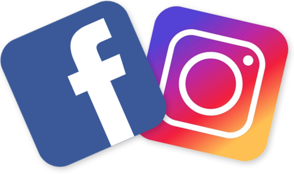 Facebook and instagram logo png. E image