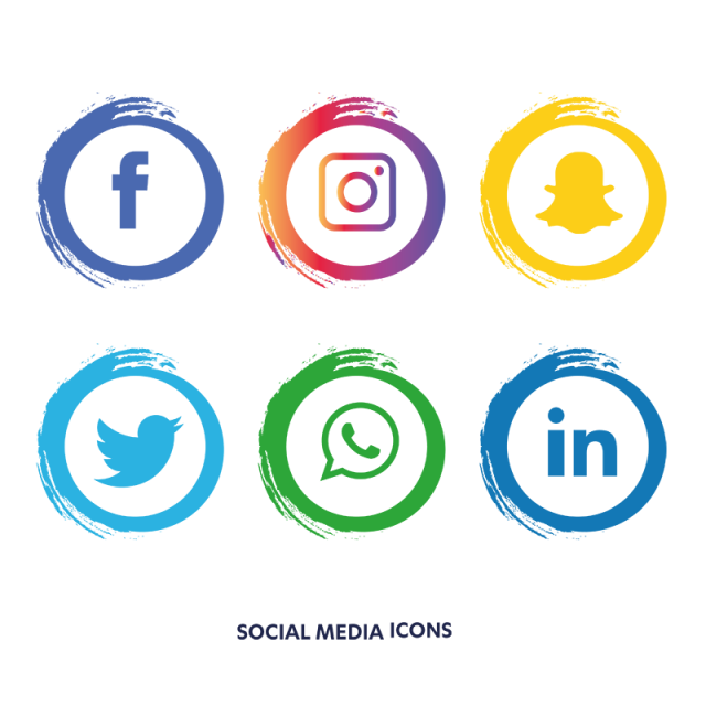 Social media icons set. Facebook and instagram logo png clip royalty free