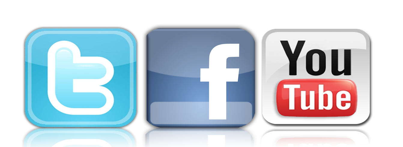 Facebook and twitter logo png. Connect with wuky