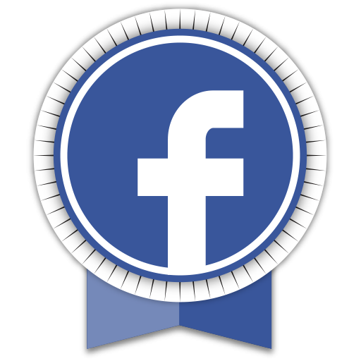 Facebook circle icon png. Round ribbon social iconset