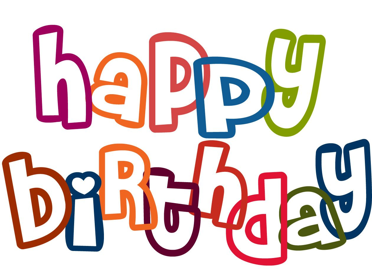 With clipart happy birthday. Free very cute