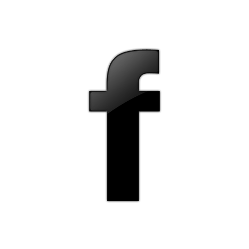 Facebook png black. F icon clipart image