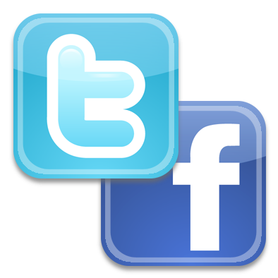 facebook and twitter logo png
