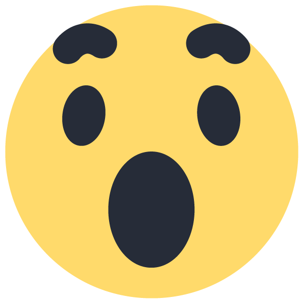 Facebook emoji png. Wow emoticon icon vector