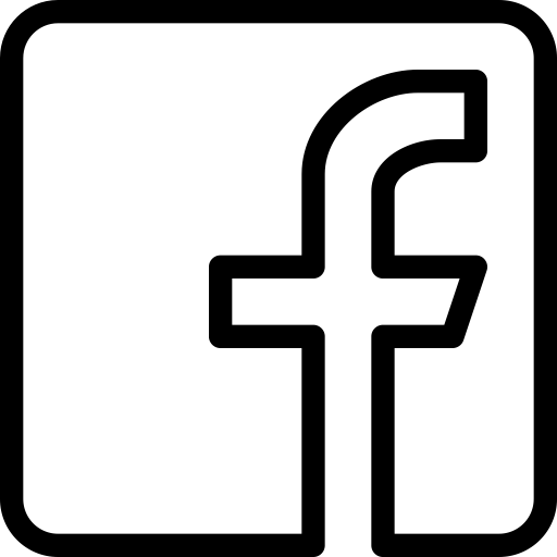 Facebook icon transparent png. Black and white logo