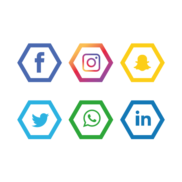 Social media icons transparent png. Set facebook instagram whatsapp
