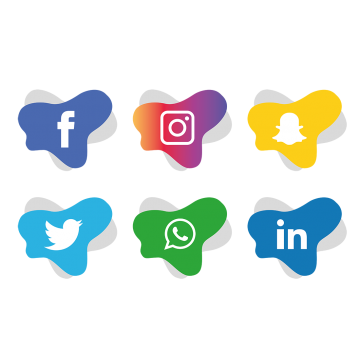 Facebook instagram twitter icons png. Professionally designed graphic works