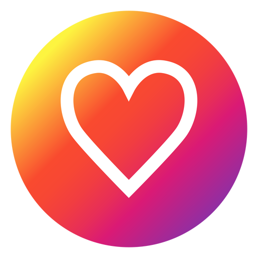 Facebook heart icon png. Instagram button transparent svg