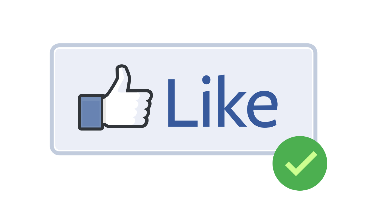 Facebook like button png. Icon free download and