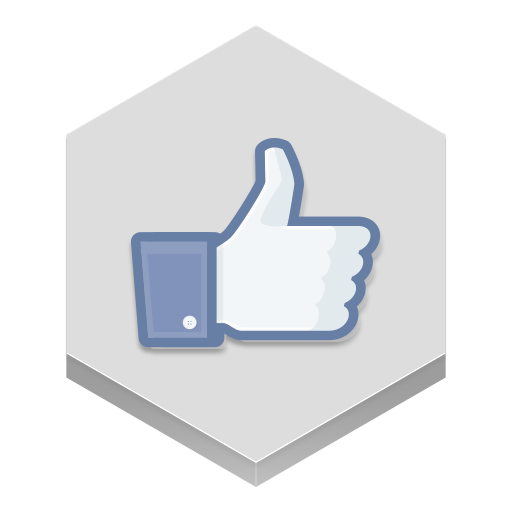 Facebook like icons png. Icon hex iconset martz