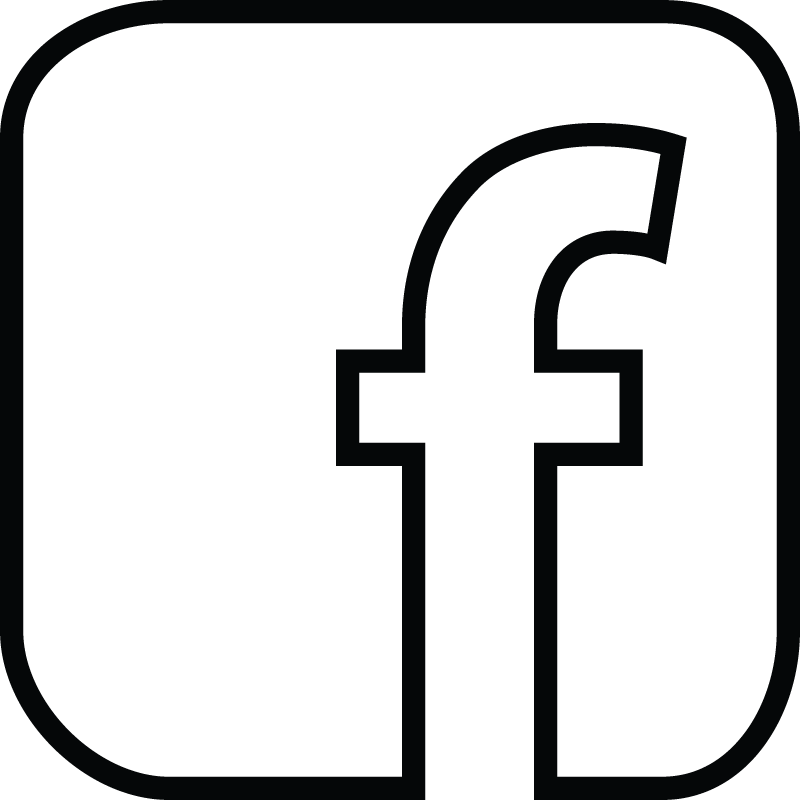 Facebook logo png white. Black and icon transparent