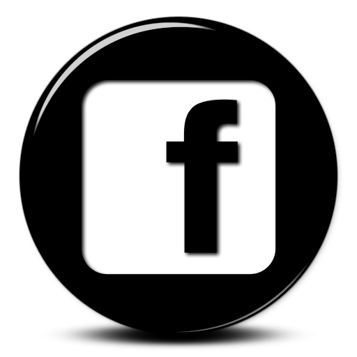 Facebook logo black png. Free glossy d button