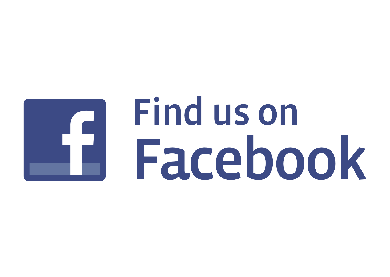Facebook logo vector png. Find us on format