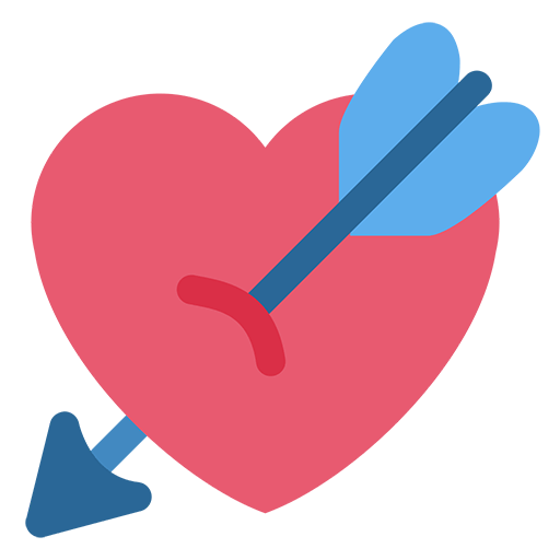 Facebook love emoji png. Heart with arrow for