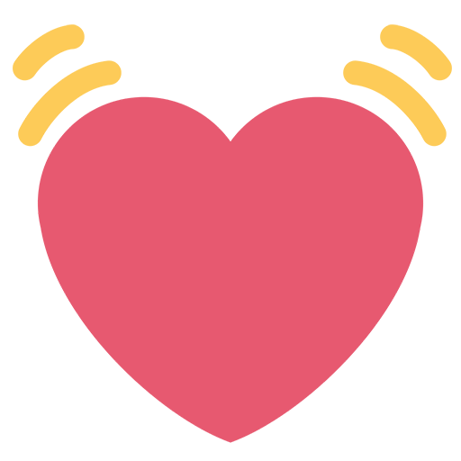 Facebook love emoji png. Beating heart for email