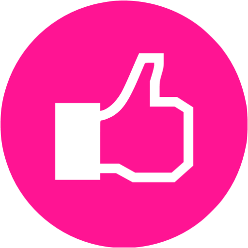 Facebook pink png. Deep like icon free