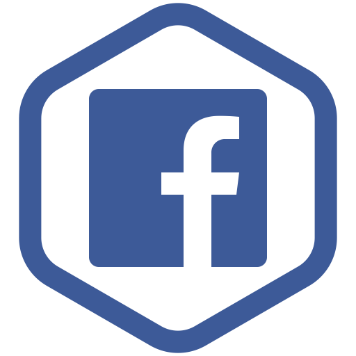 Facebook and instagram icons png. Social media hexagon icon