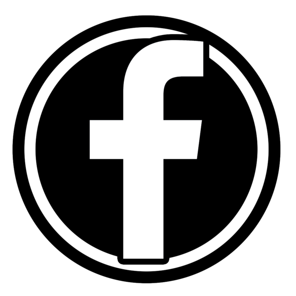 Facebook png image. File b w icon