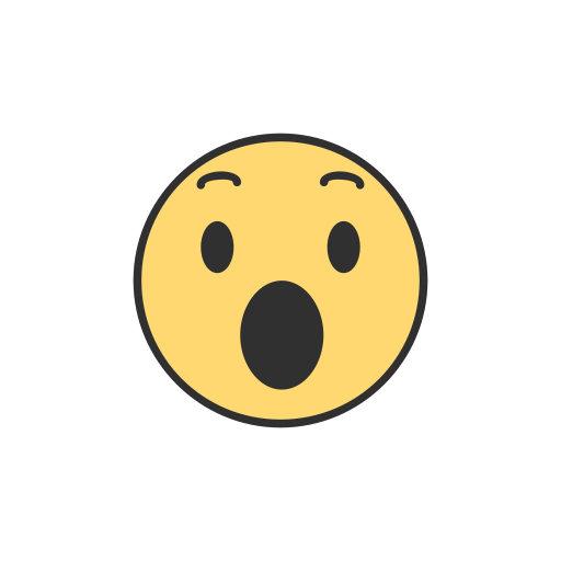 Facebook reactions png. Emoji reaction shocked icon