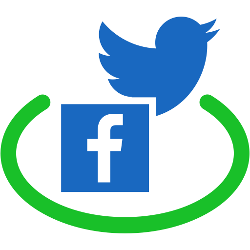 Facebook twitter icons png. For free communication icon