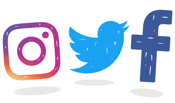 Facebook twitter instagram logo png. Free icon download eyas