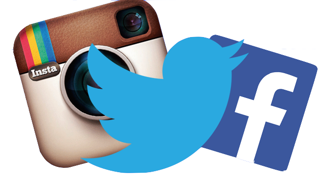 Facebook twitter instagram logos png. Follow us