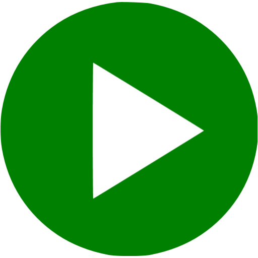 Facebook video play button png. Green icon free icons