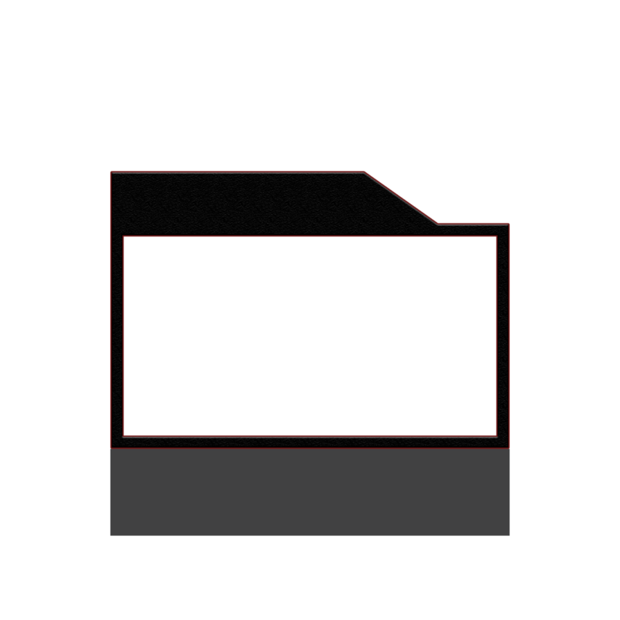 Facecam border png. With grey render by