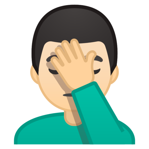 Facepalm emoji png. Google android pie