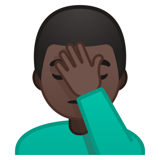 Facepalm emoji png. Google android oreo