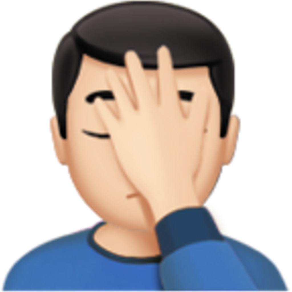 Facepalm emoji png. Iphone man