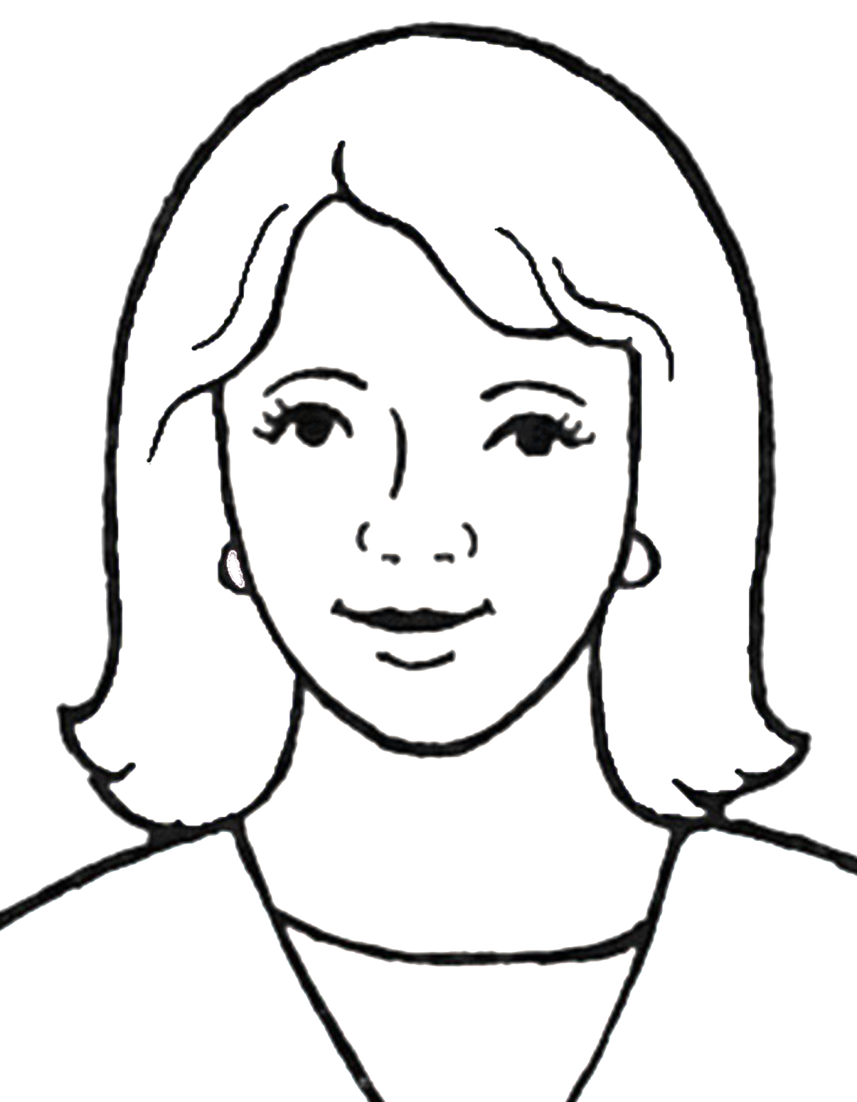 Chin drawing clip art. Mother images at getdrawings